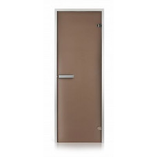 Стеклянная дверь для хамама GREUS Classic матовая бронза 700х1900 алюминий