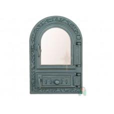Дверца со стеклом и зольником с шибером FPM1R H0309