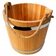 Ведро для бани 12 литров из дуба