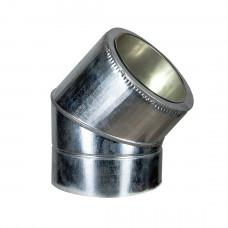 Колено термо (50мм) 45° Ф120/220 нерж/оц AiSi321 ≠1,0мм