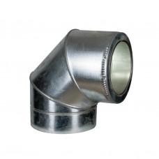 Колено термо (50мм) 90° Ф120/220 нерж/оц AiSi321 ≠1,0мм